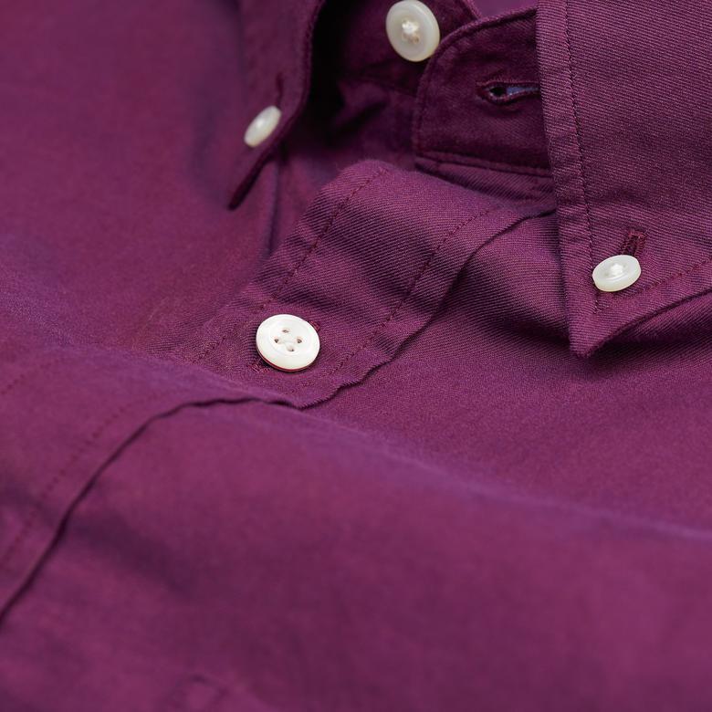 Gant Erkek Bordo Regular Fit Gömlek