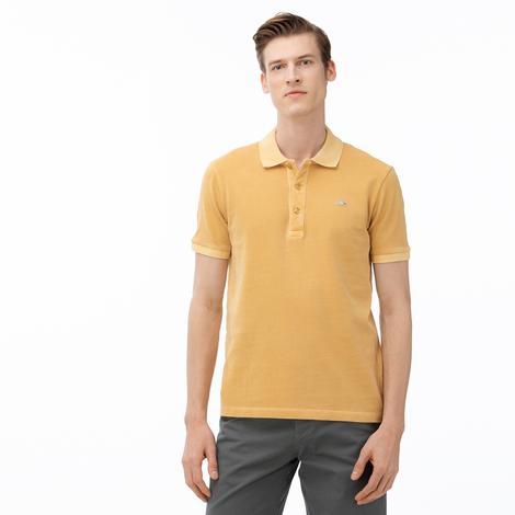 Lacoste Erkek Slim Fit Açık Sarı Kısa Kollu Polo
