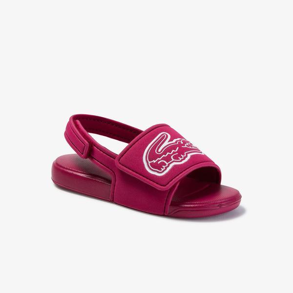 Lacoste Çocuk Koyu Pembe Beyaz Sandalet