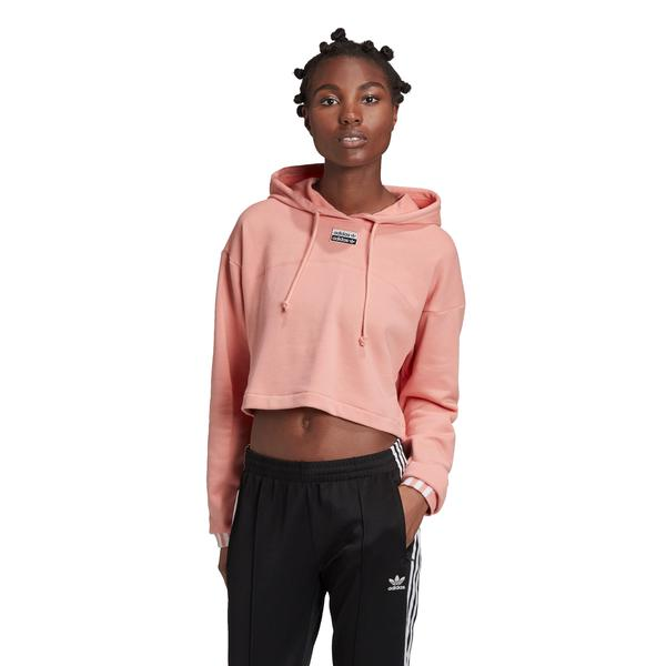 adidas R.Y.V. Cropped Kapüşonlu Kadın Pembe Sweatshirt