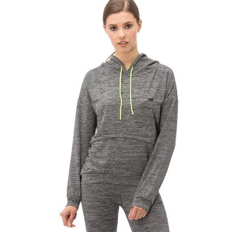 New Balance Kadın Gri Kapüşonlu Sweatshirt