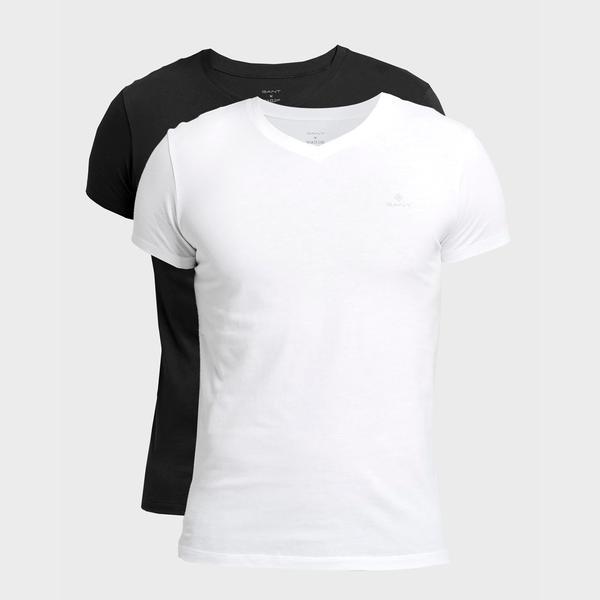 GANT Erkek Beyaz Siyah 2'li Tshirt