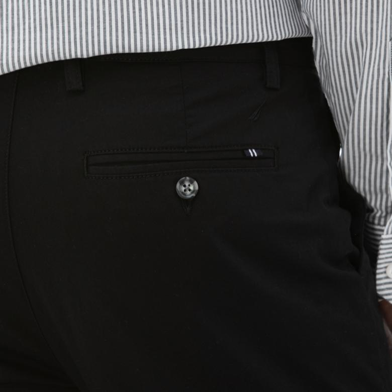 NAUTICA Erkek Slim Fit Siyah Chino Pantolon