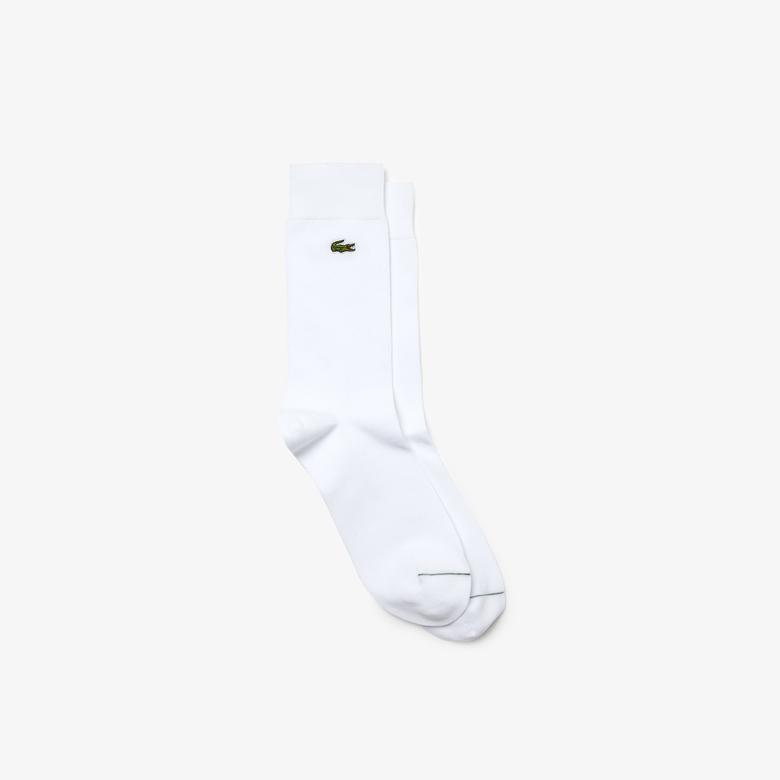 Lacoste Erkek Uzun Beyaz Çorap