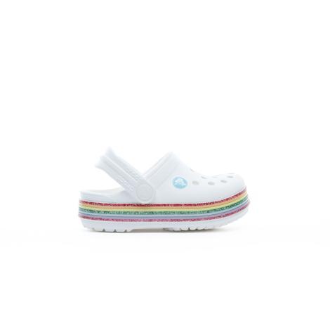 Crocs Crocband Rainbow Glitter Clog K Çocuk Beyaz Terlik