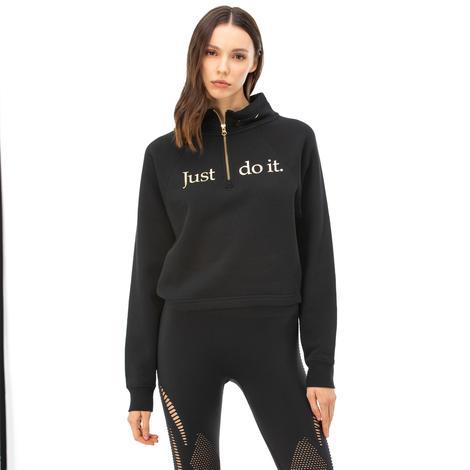 Nike Funnel Shine Siyah Kadın Sweatshirt