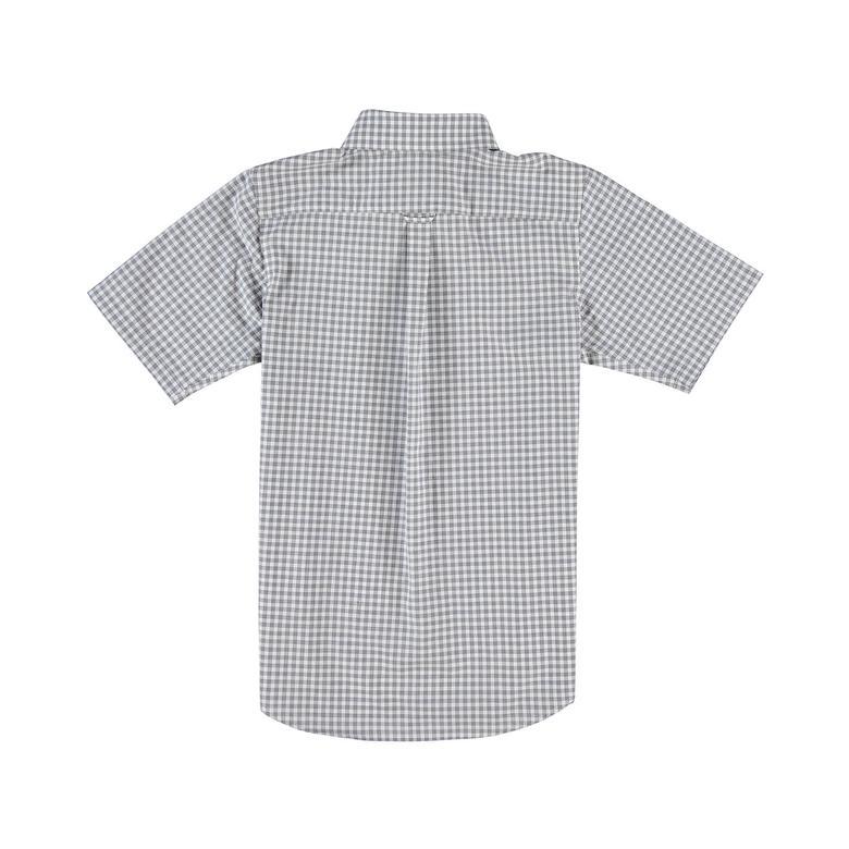 Lacoste Çocuk Ekose Desenli Gri Kısa Kollu Gömlek
