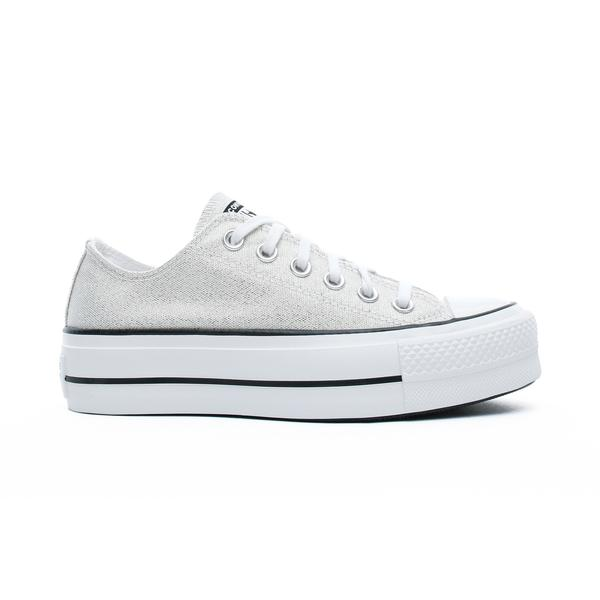 Converse Chuck Taylor All Star Lift Ox Kadın Gümüş Sneaker