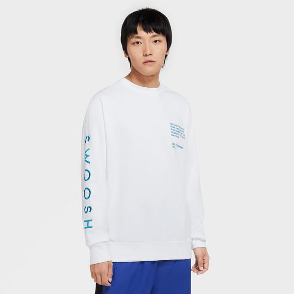 Nike Sportswear Swoosh Erkek Beyaz Sweatshirt