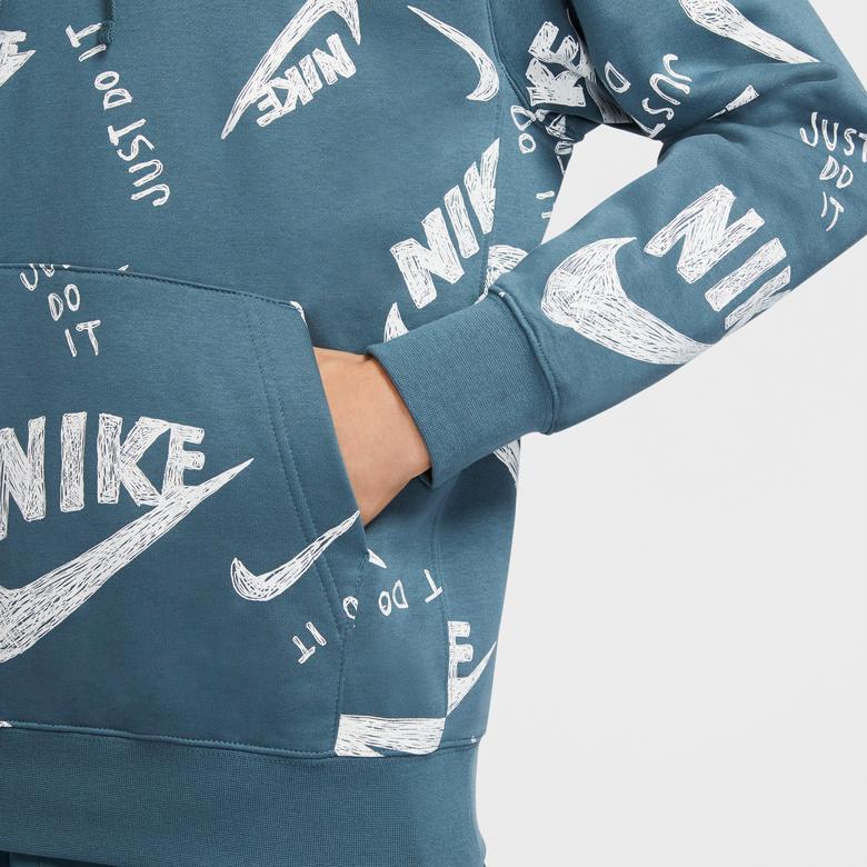 Nike Sportswear Club Erkek Yeşil Sweatshirt