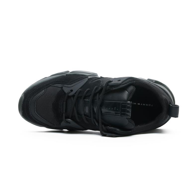 Tommy Hilfiger Chunky Material Mix Erkek Siyah Spor Ayakkabı