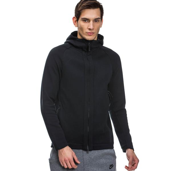Nike Tech Fleece Full Zip SS17 Siyah Kapüşonlu Sweatshirt