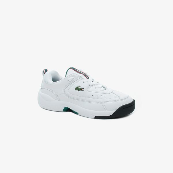 Lacoste V-Ultra Og 120 1 Sma Erkek Beyaz Deri Sneaker