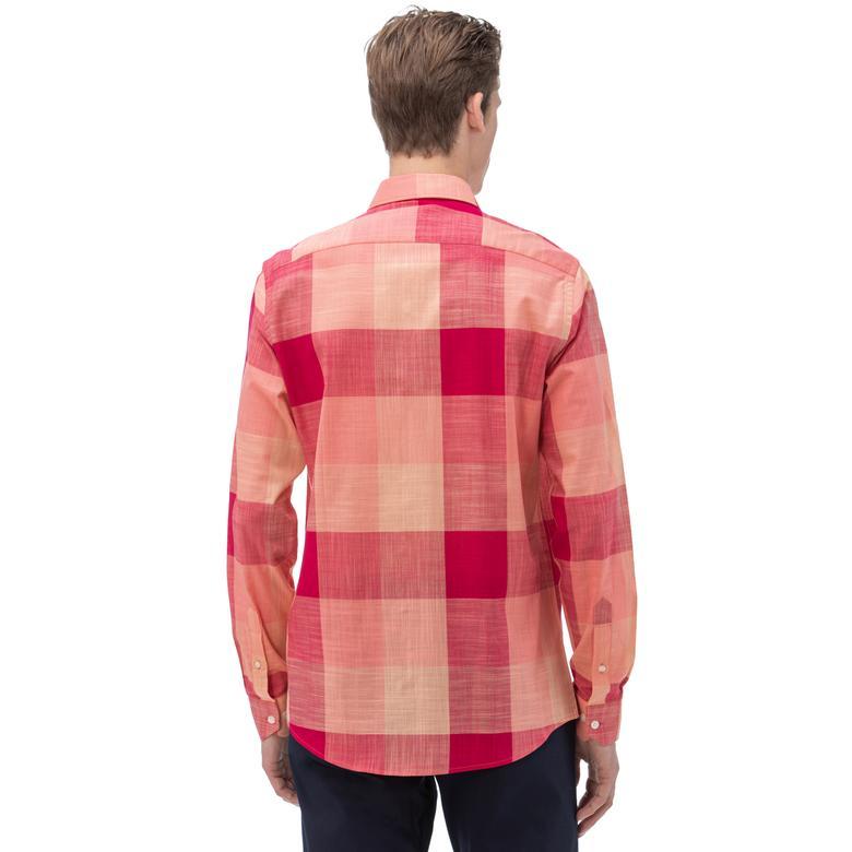 NAUTICA Erkek Slim Fit Kırmızı Gömlek