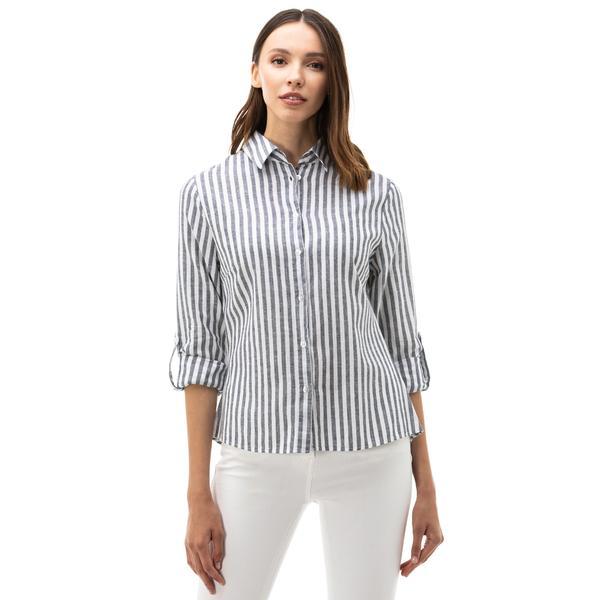 Nautica Kadın Lacivert Çizgili Gömlek