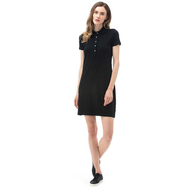 NAUTICA Kadın Siyah Polo Yaka Elbise