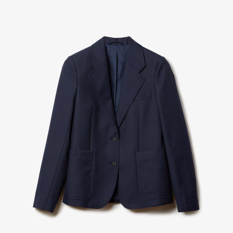 Lacoste Kadın Regular Fit Lacivert Ceket