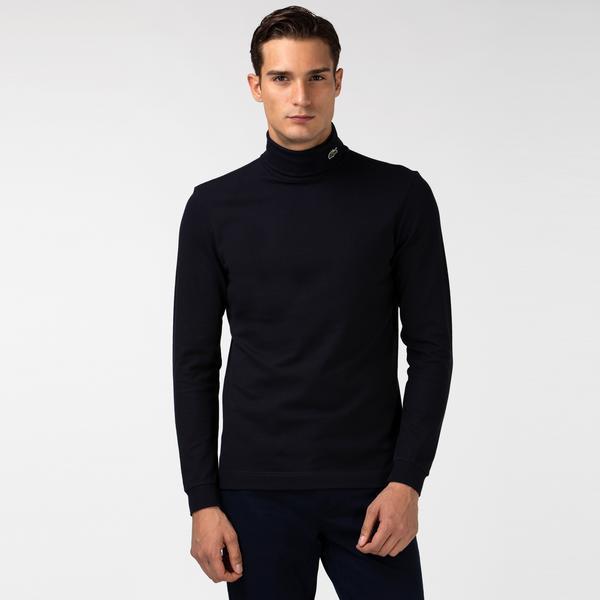 Lacoste Erkek Boğazlı Yaka Uzun Kollu Lacivert T-Shirt