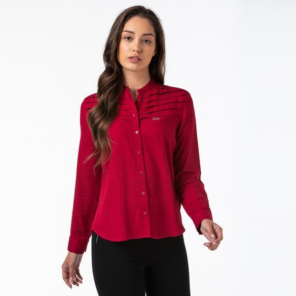 Lacoste Kadın Hakim Yaka Kırmızı Gömlek