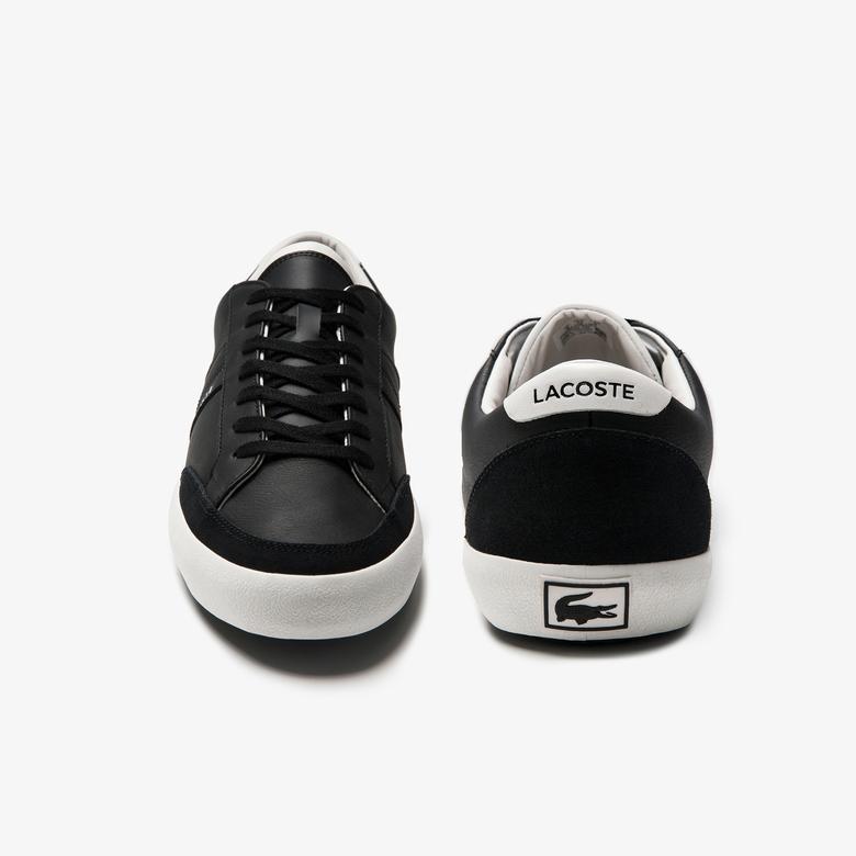 Lacoste Coupole 0120 1 Cma Erkek Deri Siyah - Beyaz Casual Ayakkabı
