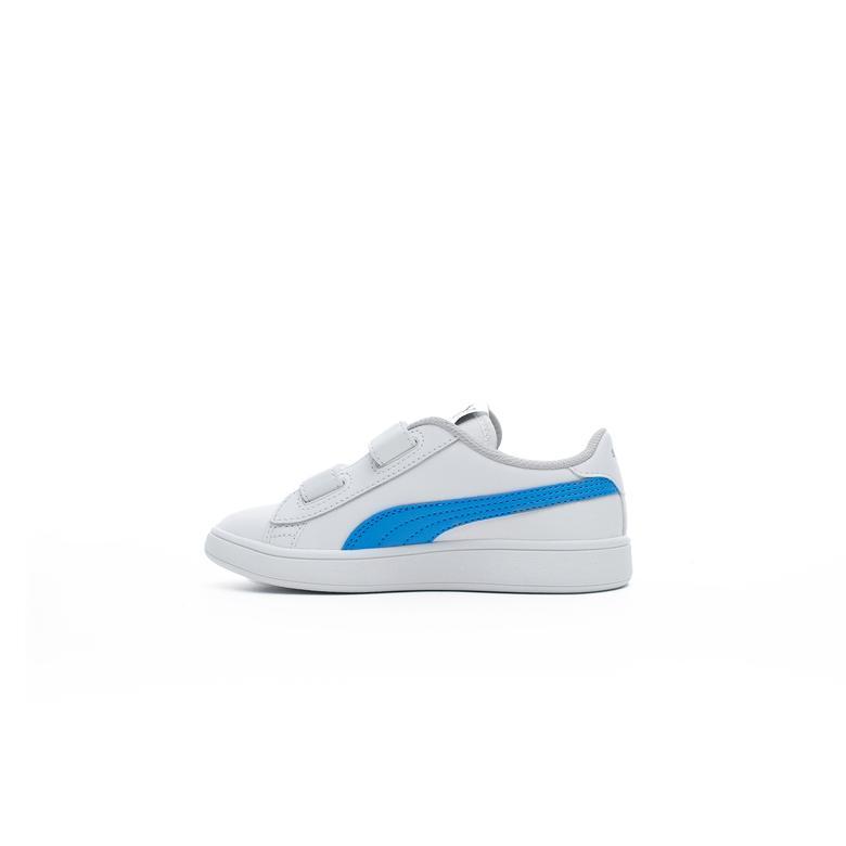 Puma Smash v2 L V Çocuk Beyaz Spor Ayakkabı