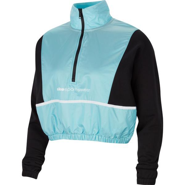 Nike Sportswear QZ Archive Rmx Kadın Siyah Sweatshirt