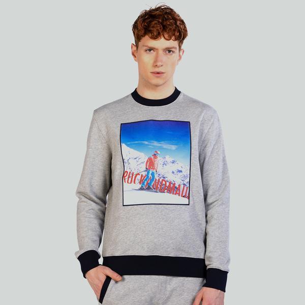 Ruck&Maul Erkek Gri Sweatshirt