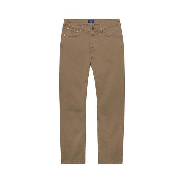 Gant Erkek Bej Regular Fit Denim Pantolon