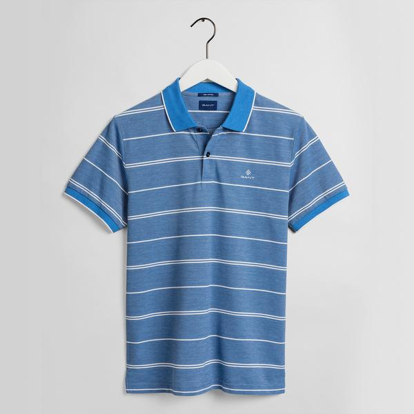 GANT Erkek Mavi Çizgili Polo