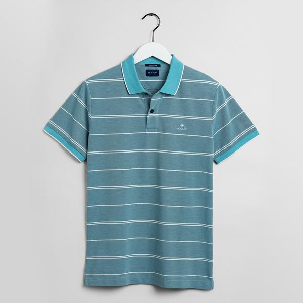 Gant Erkek Çizgili Mavi Polo