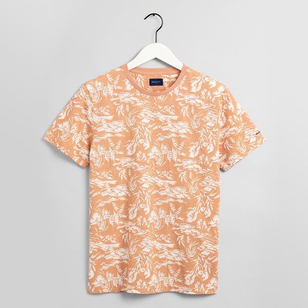GANT Erkek Turuncu Desenli T-shirt