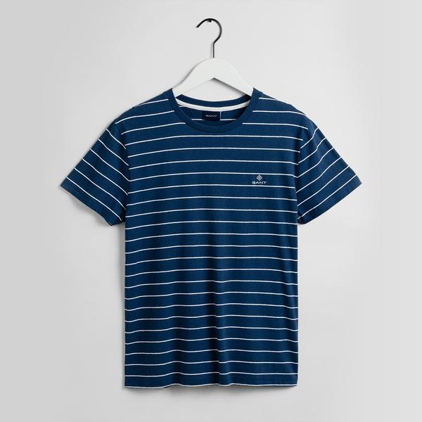 Gant Erkek Çizgili Mavi T-shirt