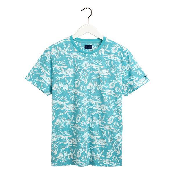 GANT Erkek Mavi Desenli T-shirt