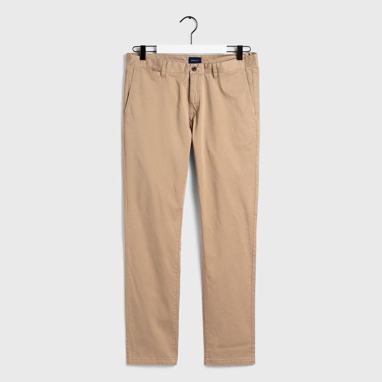 Gant Erkek Bej Slim Fit Chino Pantolon