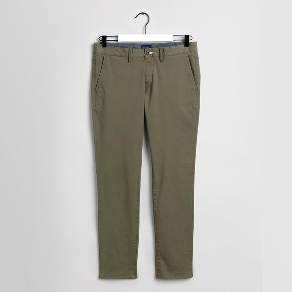 GANT Erkek Yeşil Slim Fit Chino Pantolon