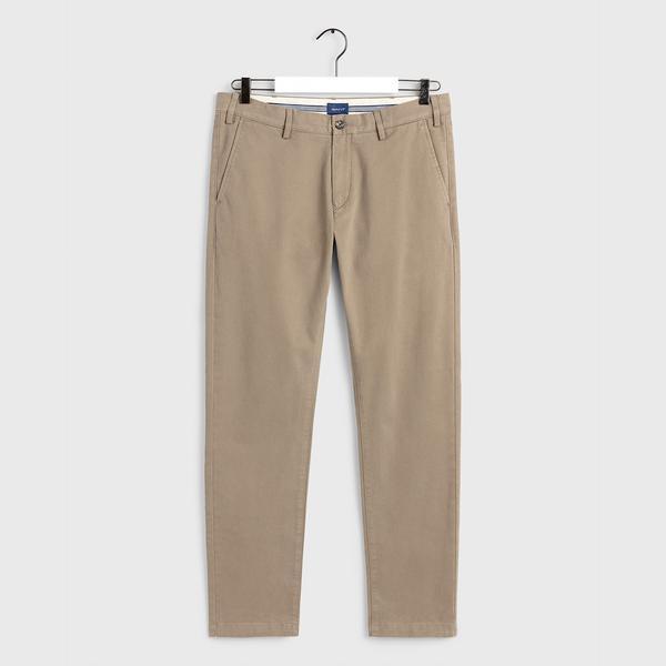 GANT Erkek Kahverengi Slim Fit Chino Pantolon