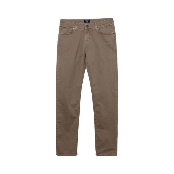 Gant Erkek Slim Straight Kahverengi Jean Pantolon