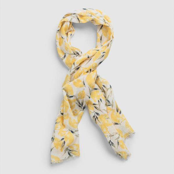 Gant Kadın Desenli Sarı Şal