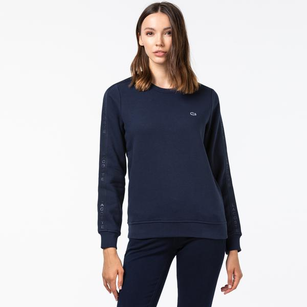 Lacoste Kadın Bisiklet Yaka Lacivert Sweatshirt