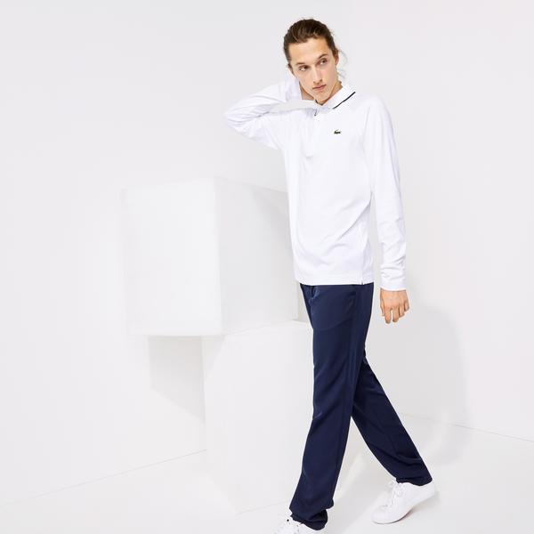 Lacoste Sport Erkek Uzun Kollu Lacivert - Beyaz Polo