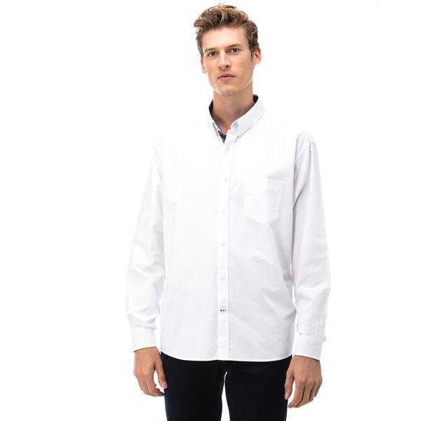 Nautıca Erkek Classıc Fıt Beyaz Gömlek