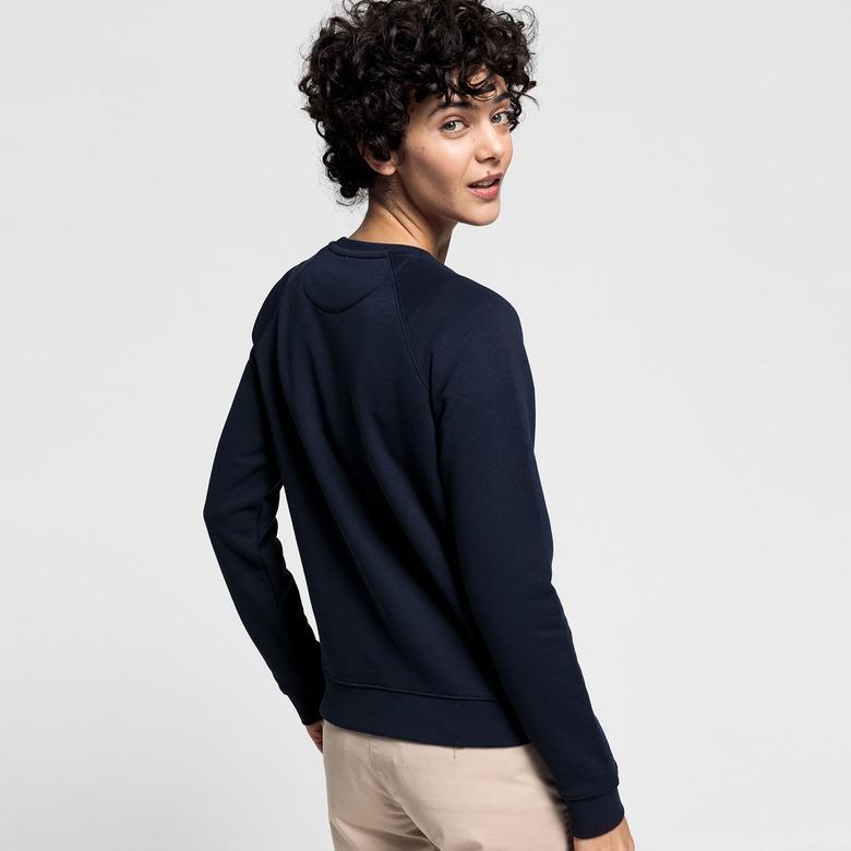 Gant Kadın Lacivert Regular Fit Sweatshirt