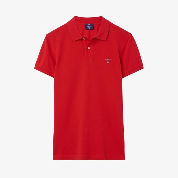 Gant Erkek Slim Fit Kırmızı  Polo