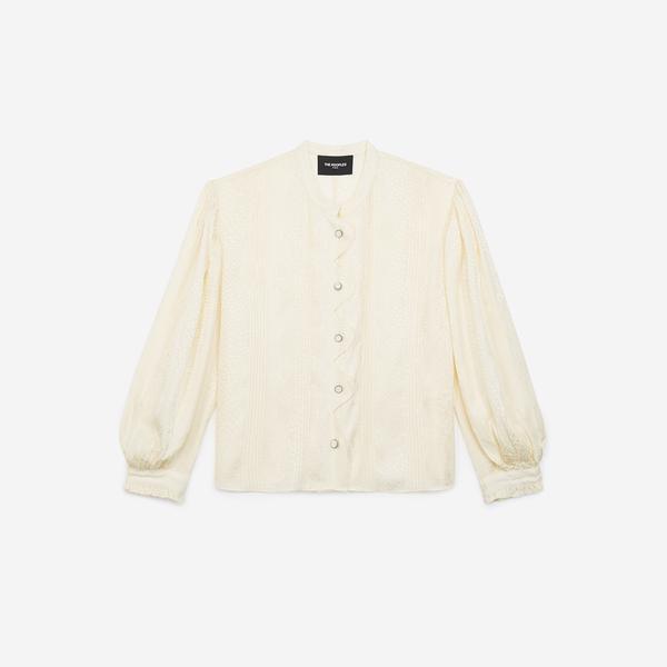 The Kooples Kadın Beyaz Mao Yaka Bluz