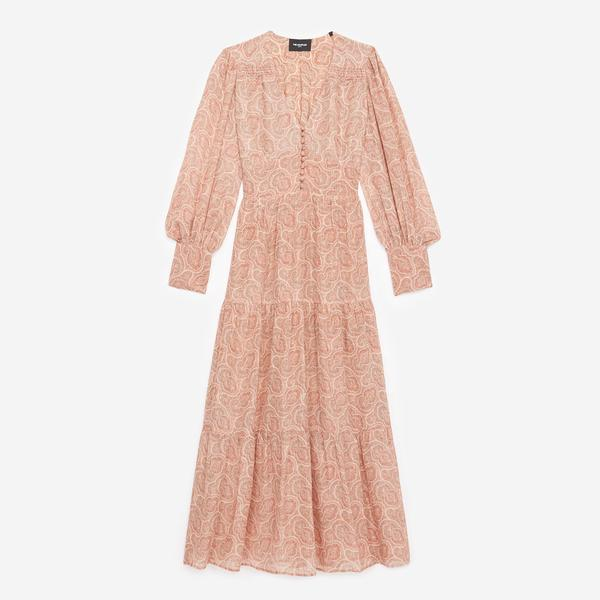 The Kooples Desenli Kadın Pembe Elbise
