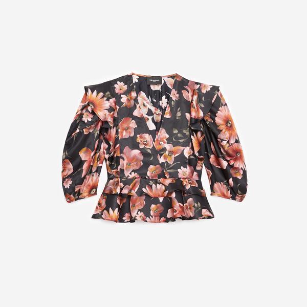The Kooples Çiçek Desenli Kadın V Yaka Bluz
