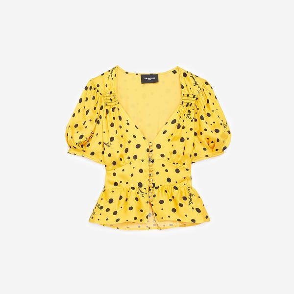 The Kooples Kadın Sarı V Yaka Bluz