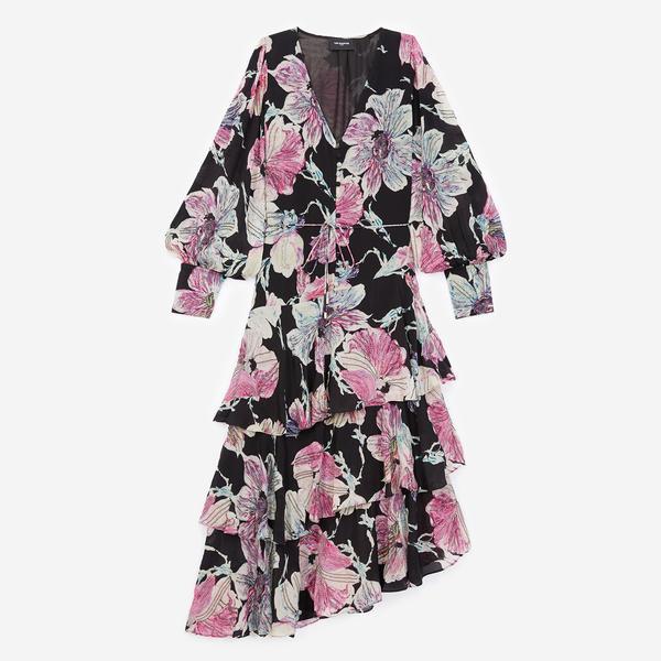 The Kooples Çiçek Desenli Kadın Uzun Elbise