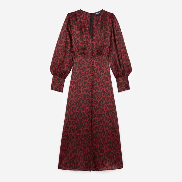The Kooples Kadın Uzun Mor Elbise