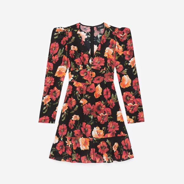 The Kooples Kadın V Yaka Elbise